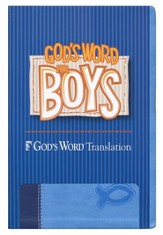GOD'S WORD for Boys Bible, Duravella, blue/light blue