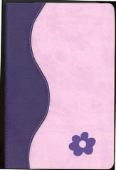 GOD'S WORD for Girls Bible, Duravella, purple/pink - Slightly Imperfect