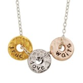 True Love Waits, Tri-color Disks Necklace (18)
