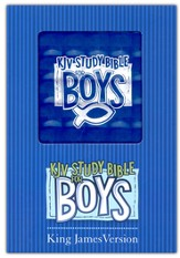 KJV Study Bible for Boys, Duravella, blue prism