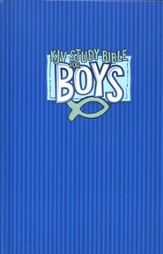 KJV Study Bible for Boys, Hardcover, blue