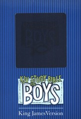 KJV Study Bible for Boys, Duravella, blue