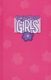 KJV Study Bible for Girls, Hardcover, pink