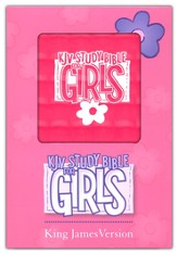 KJV Study Bible for Girls Pink, Duravella, pink prism - Imperfectly Imprinted Bibles