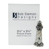 Lighthouse, Pewter Photo Frame