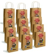 Happy Birthday Jesus Paper Bag, Brown, 1 Dozen
