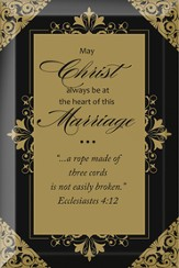 May Christ Always be at the Heart of this Marriage Plaque