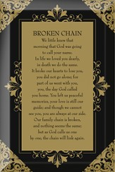 Broken Chain Plaque