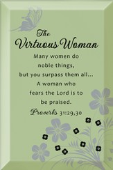 The Virtuous Woman Plaque