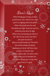 Don't Quit Plaque