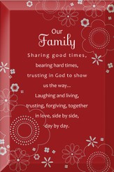 Our Family Sharing Good Times Plaque