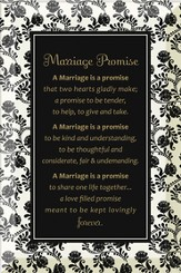 Marriage Promise Plaque