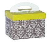 Note Tote Card Organizer, Damask