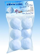 Snowtime Snowballs, Pack of 6