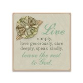Live Simply, Magnet