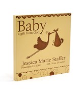 Personalized, Baby A Gift From God Square Plaque, Cherry Wood