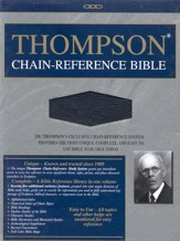 KJV Thompson Chain-Reference Bible, Black  Bonded Leather, Thumb-Indexed - Slightly Imperfect