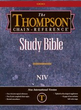 NIV Thompson Chain-Reference Bible, Black  Bonded Leather, Thumb Indexed 1984