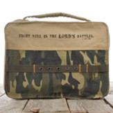 Fight Well In The Lord, Camo Bible Cover, Medium