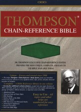 KJV Thompson Chain-Reference Bible, Hunter Green Kirvella Imitation Leather