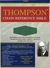 NIV Thompson Chain-Reference Bible, Hunter Green Kirvella Imitation Leather 1984
