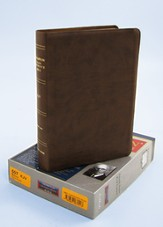 KJV Thompson Chain-Reference Bible, Brown Kirvella Imitation Leather
