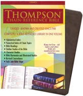 NIV Thompson Chain-Reference Bible, Brown Kirvella Imitation Leather 1984