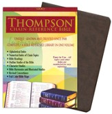 NIV Thompson Chain-Reference Bible, Brown Kirvella Imitation Leather, Thumb-Indexed 1984