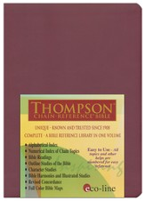 KJV Thompson Chain-Reference Bible, Cranberry Mirage Softcover