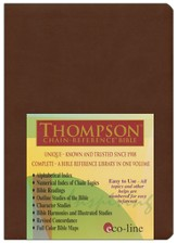 KJV Thompson Chain-Reference Bible, Dark Brown Mirage Softcover