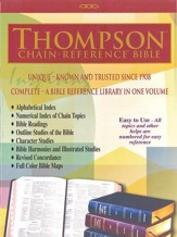 KJV Thompson Chain-Reference Bible, Handy Size, Blue Kirvella Imitation Leather, Thumb-Indexed