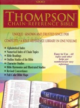 KJV Thompson Chain-Reference Bible, Blue Kirvella Imitation Leather, Thumb-Indexed - Imperfectly Imprinted Bibles