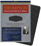 KJV Thompson Chain-Reference Bible, Handy Size, Black Kirvella Imitation Leather