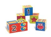 Numbers & Shapes Puzzle Blocks, Set of 6