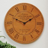 Personalized Clock: As for Me and My House
