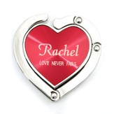 Personalized, Red Heart Purse Holder, Love Never Fails