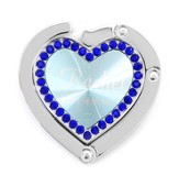Personalized, Blue Heart Purse Holder, Love Never Fails