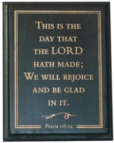 This is the Day That the Lord Has Made Plaque, Black