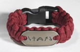 Survival Bracelet, Burgundy