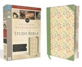 NIV Cultural Backgrounds Study Bible, Imitation Leather, Sage/Leaves