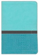 NIV Thinline, Large Print, Imitation Leather, Turquoise