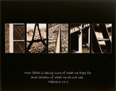 Faith, Hebrews 11:1, Alphabet Print