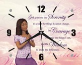 Serenity Prayer Clock