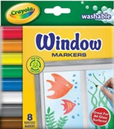 Crayola, Washable Window Markers, 8 Pieces
