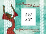 I Will Praise You Photo Frame Green