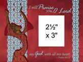 I Will Praise You Photo Frame Red