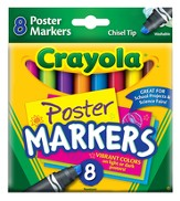 Crayola, Washable Poster Markers, 8 Pieces