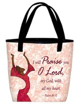 I Will Praise Tote Red