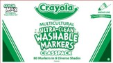 Crayola, Multicultural Skin-Toned Markers, Classroom Kit  8 Colors 80 Pieces