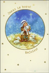 Jesus is Born Rejoice Christmas Cards, Box of 18